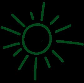 symbolgrafik sonne gruen